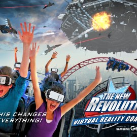 Six Flags' VR Ride, The New Revolution opened in Atlanta on March 12th 2016.