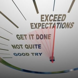 exceed expectations