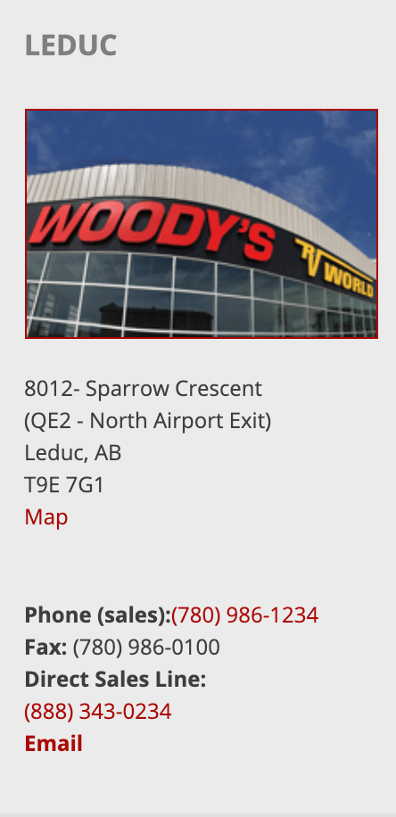 Panoramic RV - Woody's - Leduc