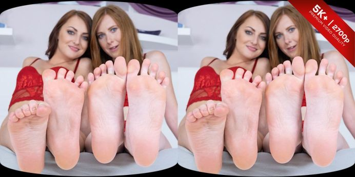Czech VR Fetish 132 – Lesbian Feet Loving Starring Katy Rose, Linda Sweet