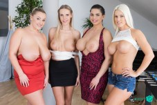 Czech VR 270 - Fivesome with Huge Tits Blanche Bradburry, Chloe Lamour, Crystal Swift, Florane Russell vr porn
