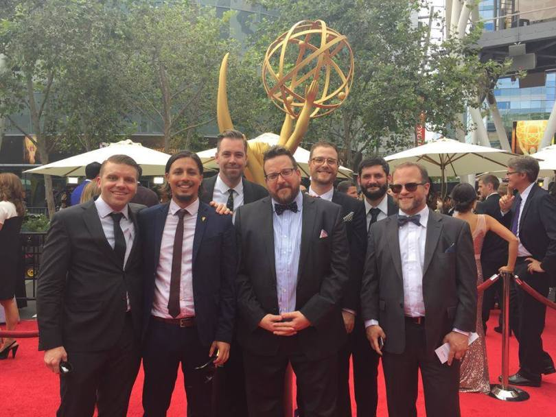 Secret Location team at the 2015 Emmy's