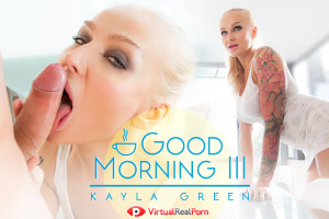 Kayla Green licks cock in VR