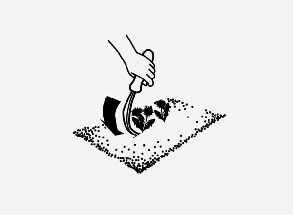 odstranjevanje plevela s krempeljcem