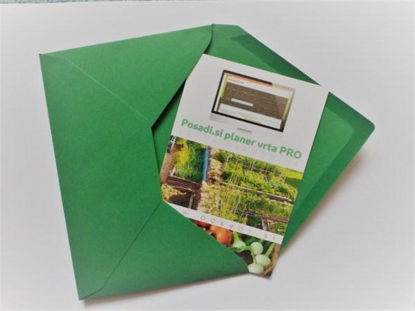 Posadi.si PRO naročnina darilna kartica po pošti