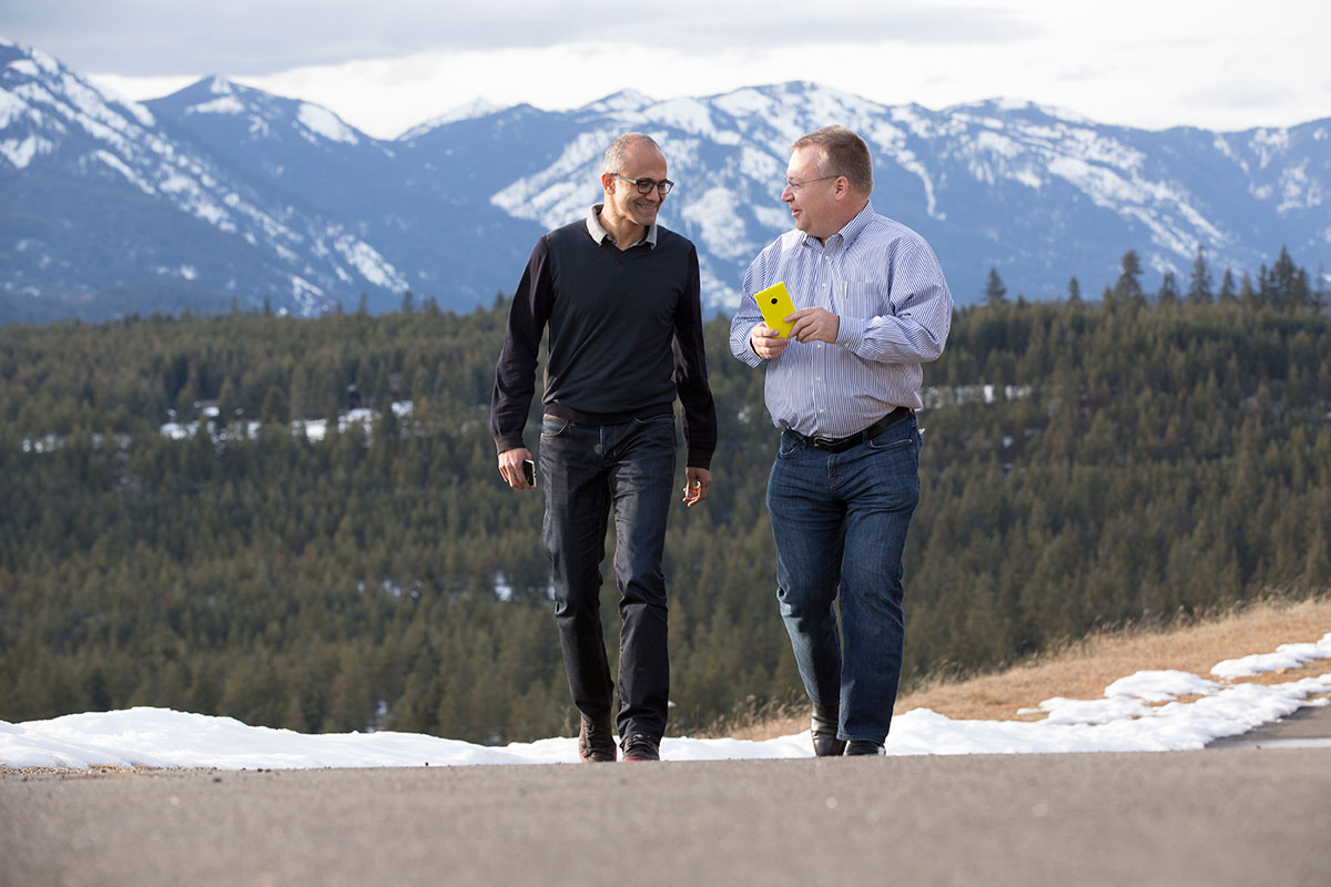 Satya Nadella and Stephen Elop