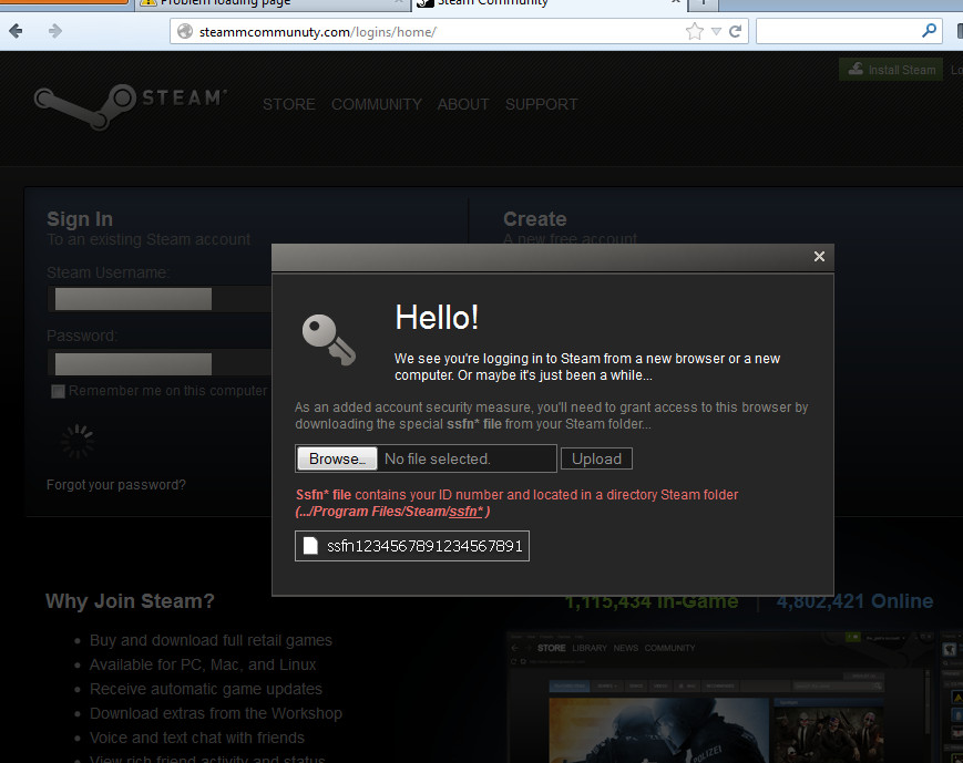 Steam SSFN Upload