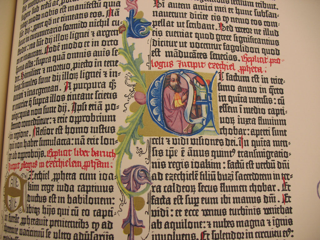 Detail of decoration from a Gutenberg Bible