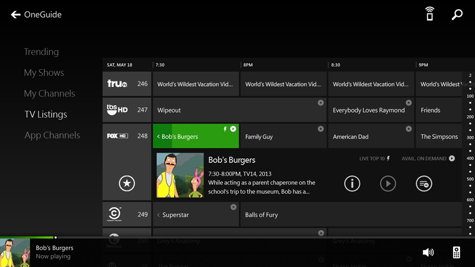 HDMI pass-through turns your Xbox One into a DVR, allowing you to record shows directly to the console.