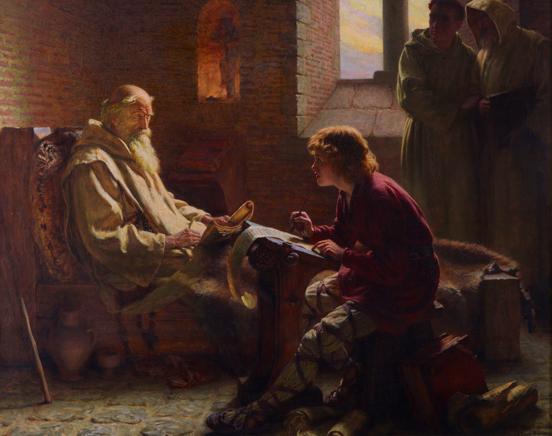 St. Bede in his monastery