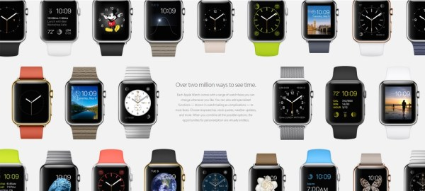 The Apple Watch comes in a huge variety of flavors and styles, with customizable faces.