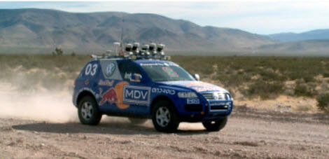 Stanley, 2005 DARPA winner with LiDar on board
