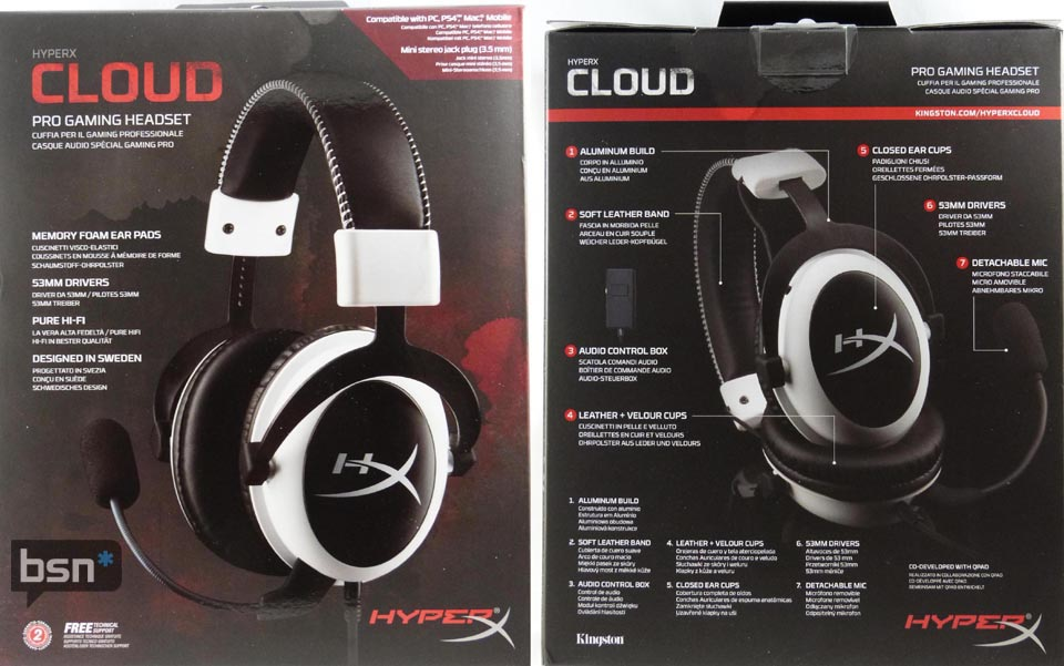 HyperX Cloud Headset Shelf Boxing
