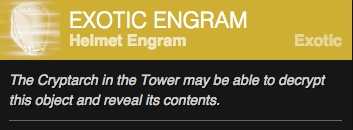 Destiny Exotic Helmet Engram 2