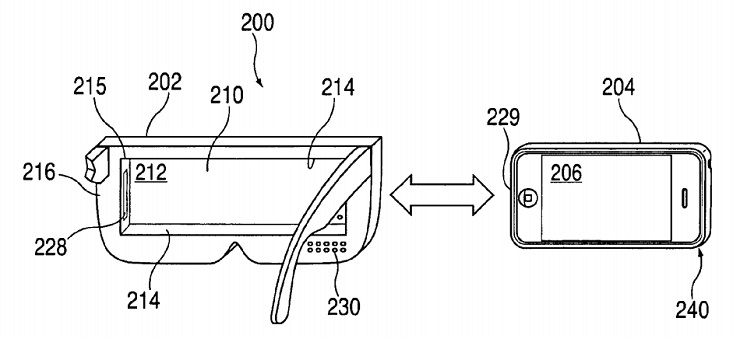 Apple Patented Smartphone Based Vr Headset 2008 on apple head unit