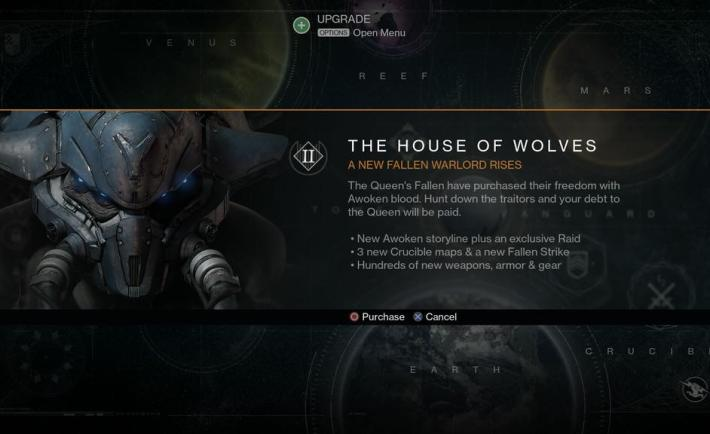 Destiny House of Wolves DLC