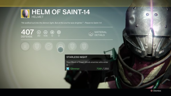 """""""He walked out into the demon light. But at the end he was brighter."""" — Paean to Saint-14"""