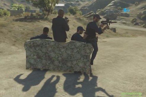 Battlefield Hardline Couch