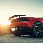 Rosso Mars Lamborghini Huracan By Vorsteiner Wallpapers