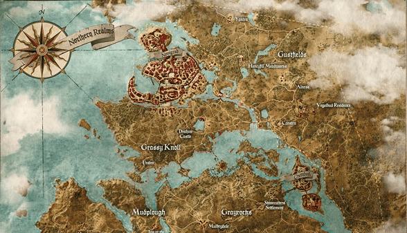 The Witcher 3 Map Showcases Colossal Fantasy World