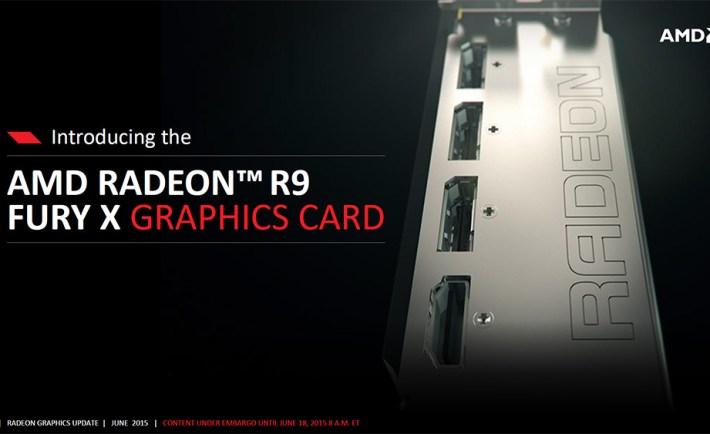 AMD Radeon R9 Fury X Introduction slide