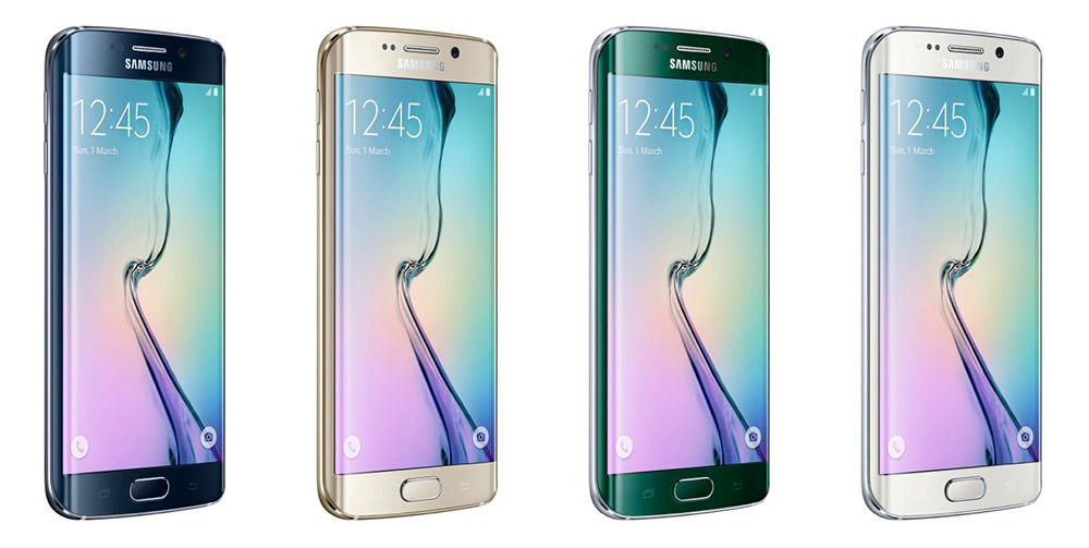 Samsung Galaxy S6 Edge and S6 Edge+ mobile phones.