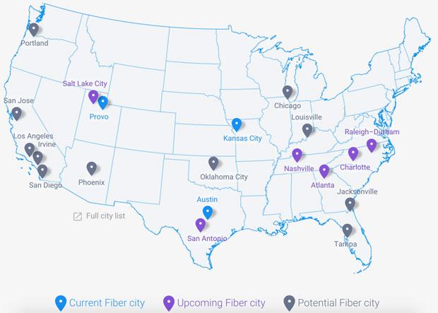 Google Fiber Map Info
