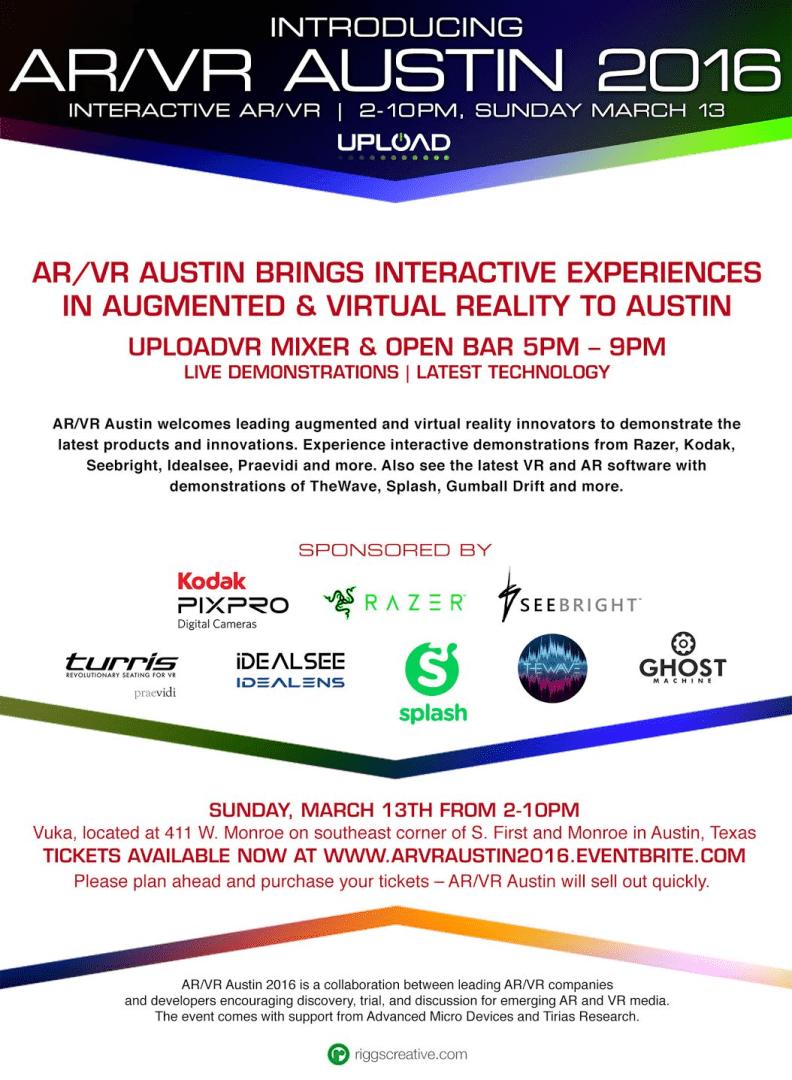 AR/VR Austin 2016 Flyer