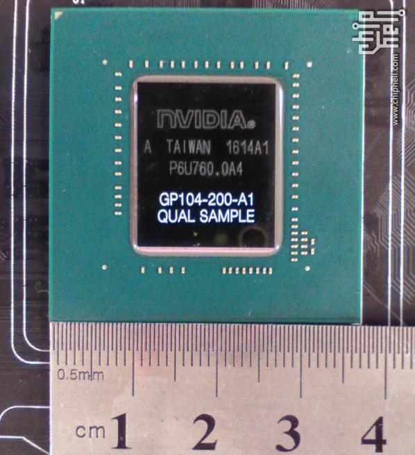 NVIDIA GP104-200-A1 Silicon Die