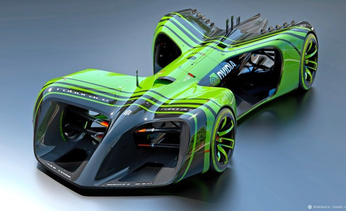 RoboRace Render of the first Concept car