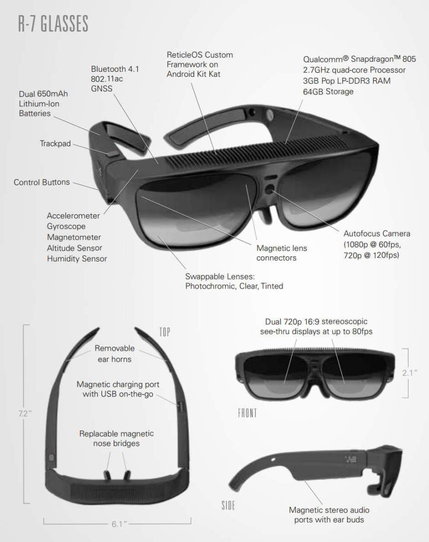 ODG R-7 AR Glasses