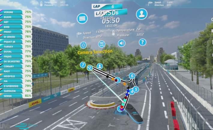 Virtually Live Formula E Menu