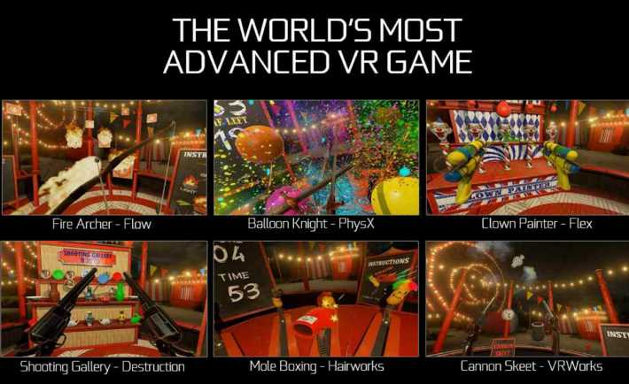 Nvidia Releases Modes, Five New Games for its VR Funhouse