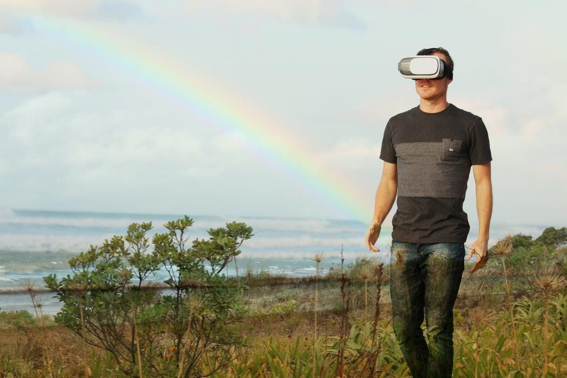 Virtual Reality meets real world.