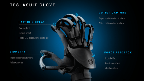 Teslasuit develops VR gloves to increase immersion