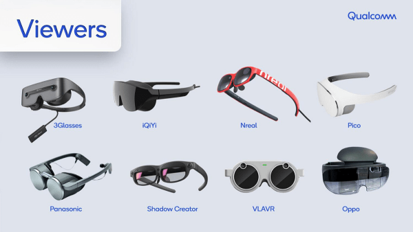 Multiple glasses manufacturers are in development, including 3Glasses, iQiyi, Nreal, Oppo, Panasonic, Pico and Shadow Creator