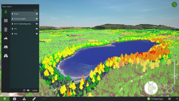 TimberOps helps reduce the cost of forestry planning and resource management, by integrating all available data on a high-fidelity, three-dimensional digital landscape