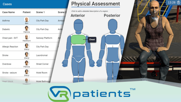 VRpatients is pre-loaded with more than 20 realistic living environments and a multitude of patient avatars