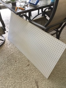 Starting with blank pegboard