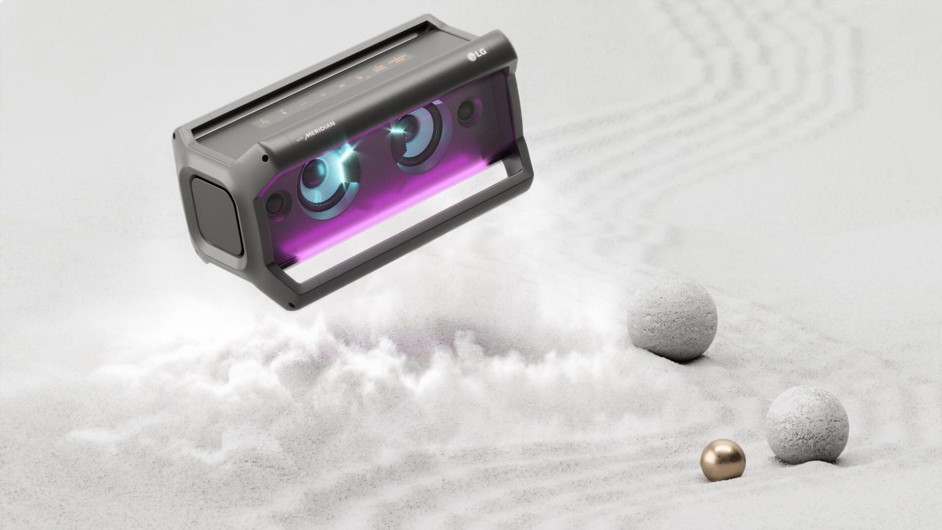 LG Speaker example of 3d design advertising