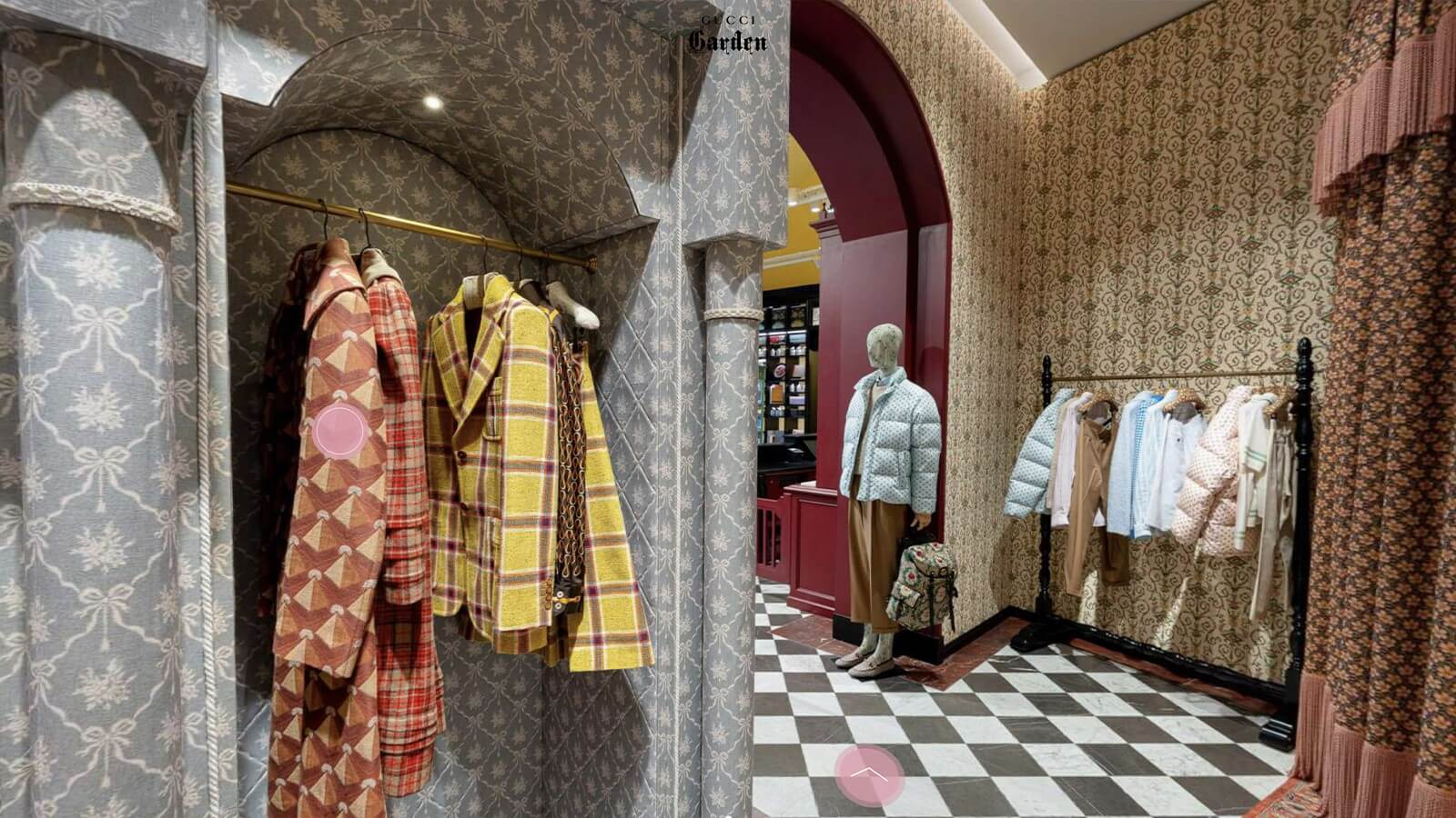A 3D Virtual space image used as part of a digital marketing strategy for gucci