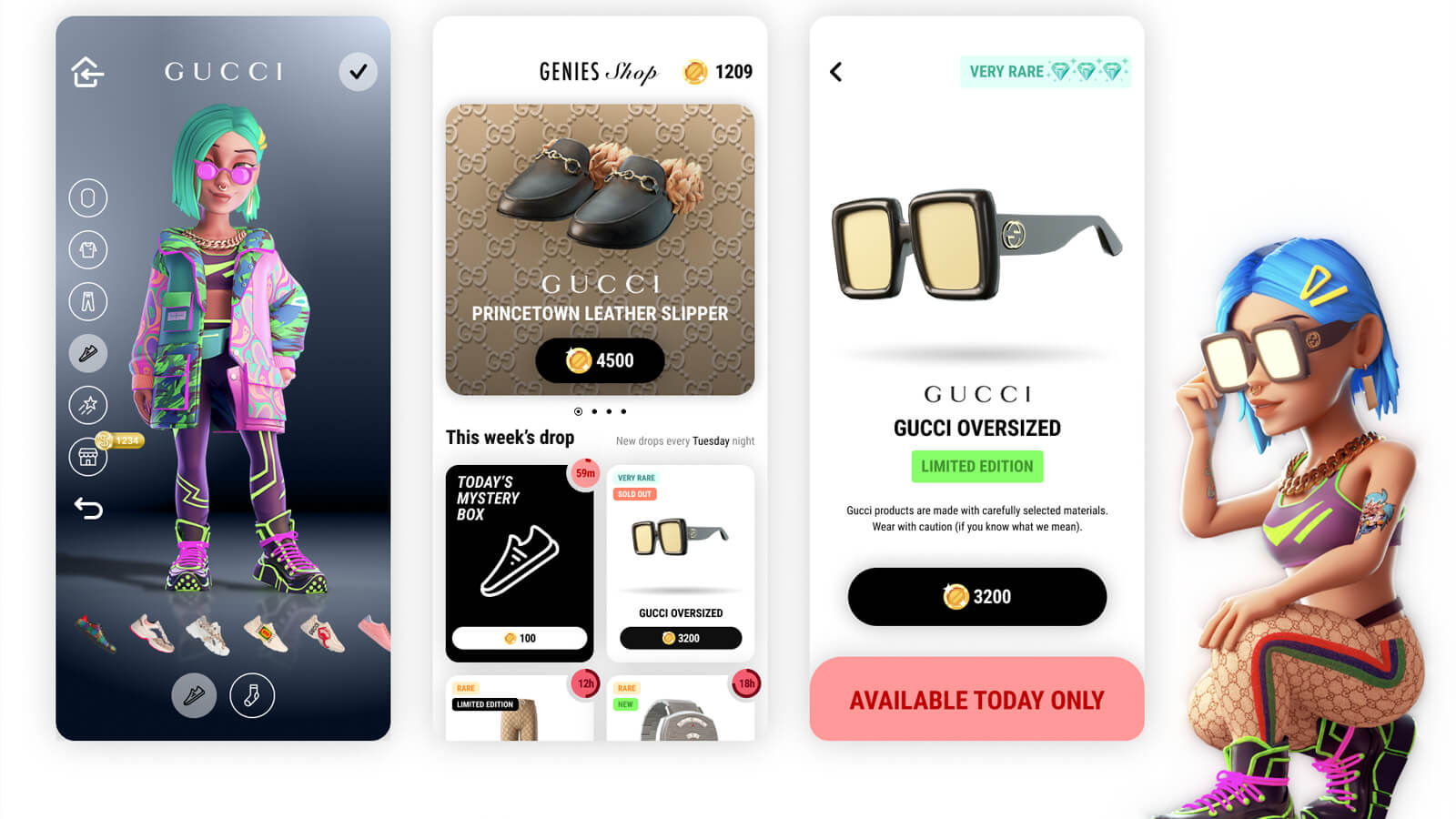 Gucci clothing can be added to Genesis brand avatars