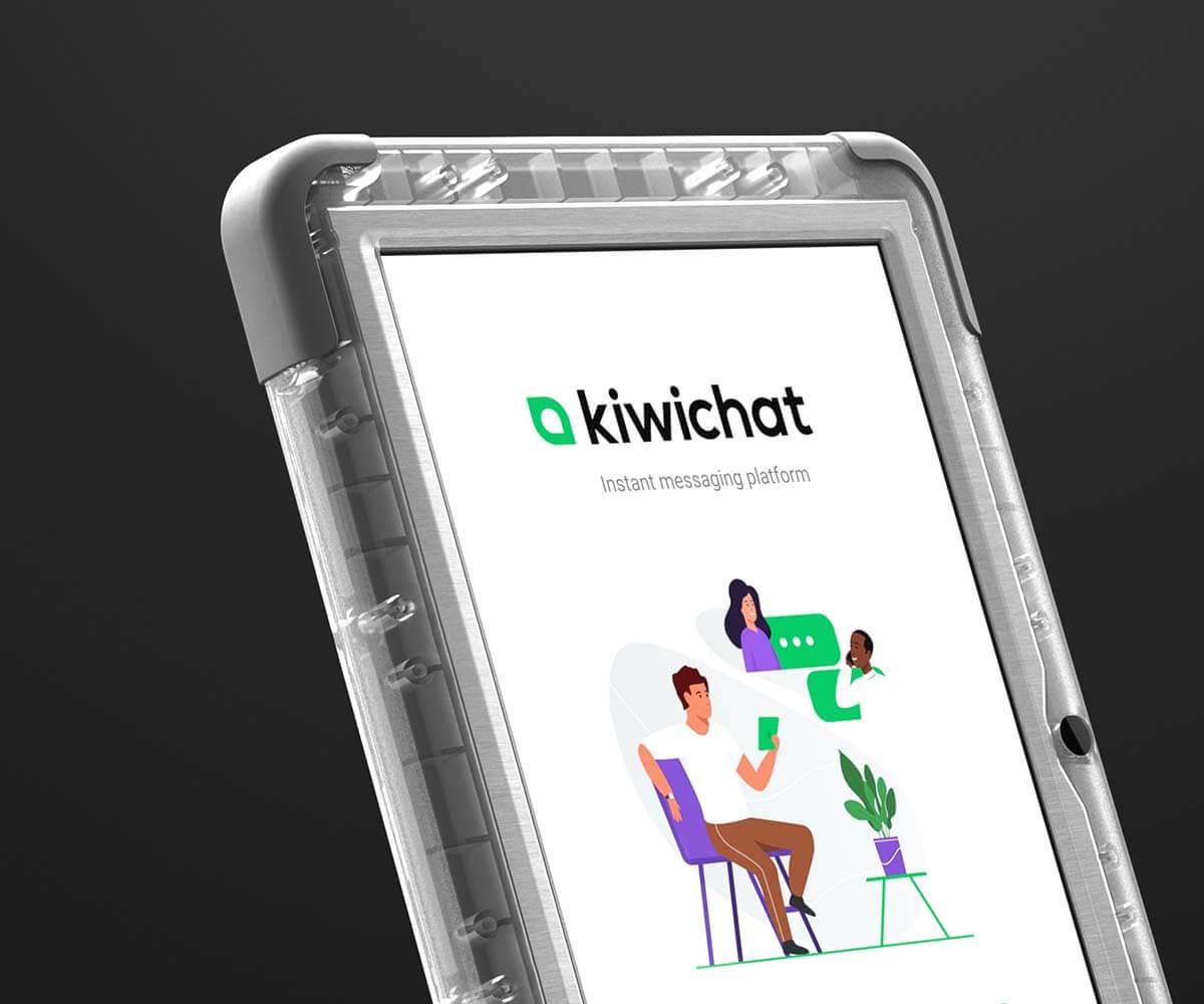the Kiwichat tablet in the vslb Studio Virtual Space
