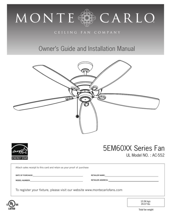 Ac 552 Ceiling Fan Wiring