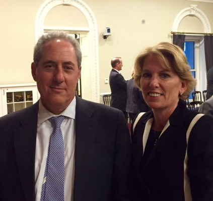Produce Marketing Association President Cathy Burns noted the importance of fair, efficient global trade for the fresh produce industry and PMA's support for the Trans-Pacific Partnership agreement at a Feb. 29 White House meeting where she met with U.S. Trade Representative Ambassador Michael Froman and other U.S. trade officials.