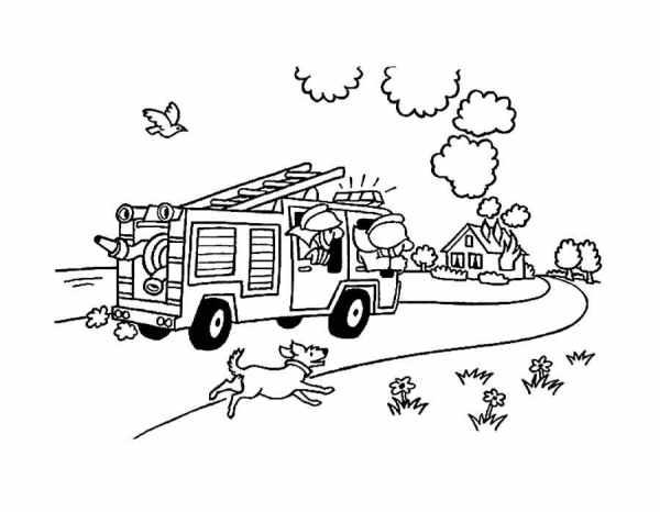 Раскраска пожарная безопасность. Распечатать картинки для ...