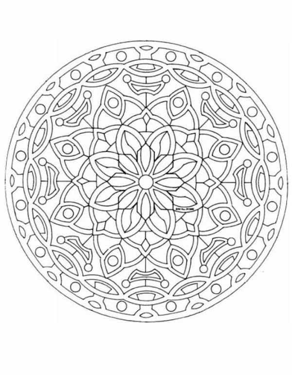 Мандалы для раскрашивания, раскраски Мандалы со значением.