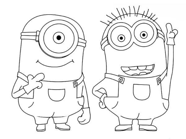 Раскраски Миньоны - распечатать картинки для детей бесплатно.