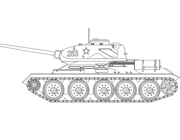 раскраска танка т 34-85 » Моды Wargaming