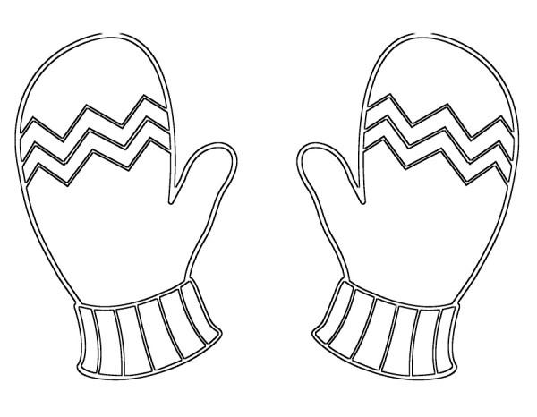 Раскраски варежки и рукавички. Распечатать картинки бесплатно.